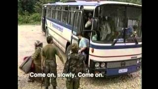 Bosnian Muslim Women, Children and Elderly being transported out of Srebrenica & Potočari