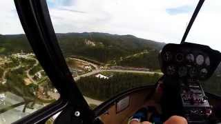 Gopro helicopter ride at Mount Rushmore