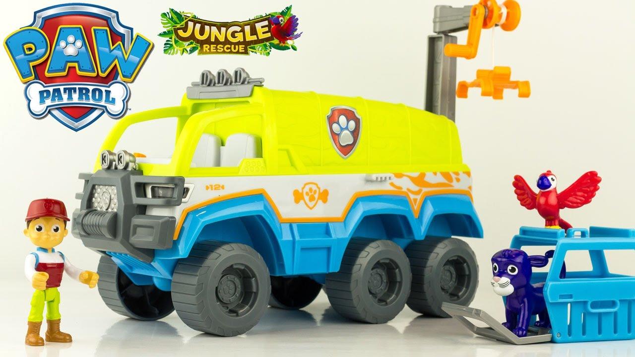 Pat Patrouille Camion Tout Terrain Patrouilleur Jungle Rescue Paw Patrol Vehicle Review Jouets Youtube