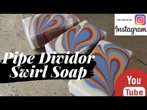 Soap Challenge Club September 2019: Pipe Divider Swirl