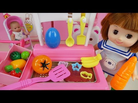 Thumbnail: Baby Doli Kitchen surprise eggs and Food toys play