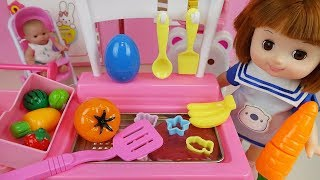 Baby Doli Kitchen surprise eggs and Food toys play