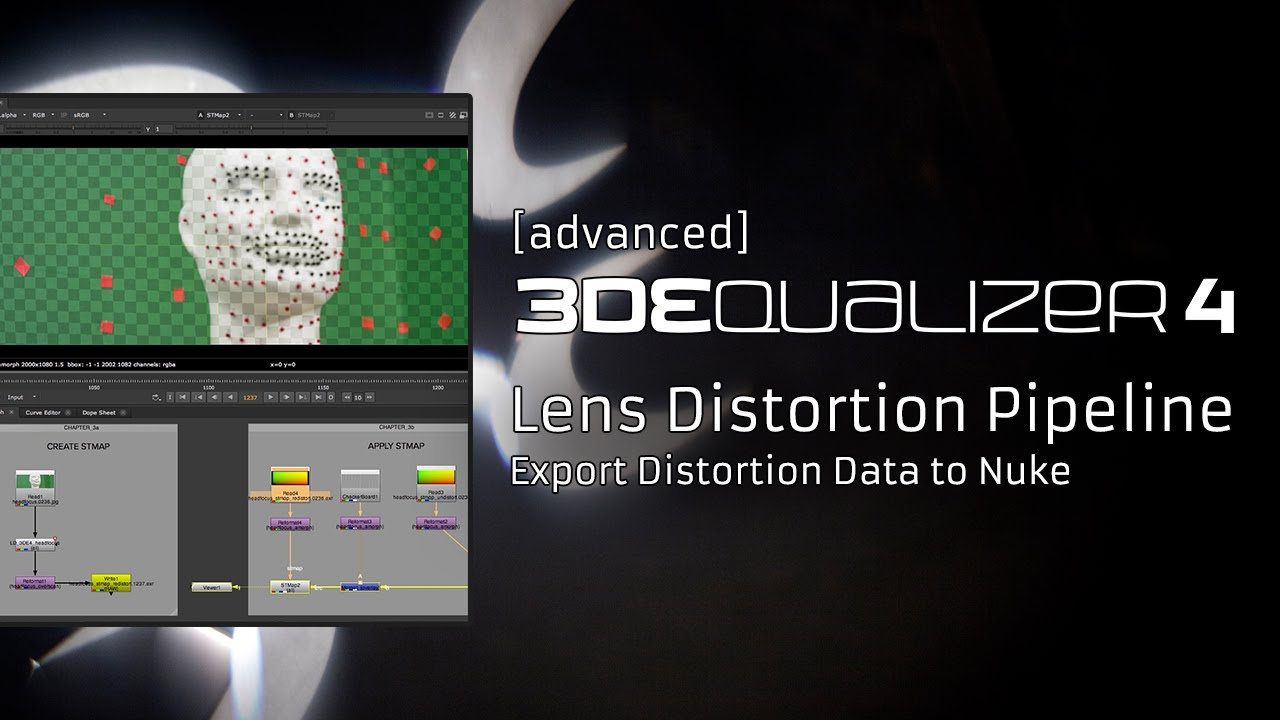 3DEqualizer4 R4 [advanced] - Lens Distortion Pipeline / Export Distortion  Data to Nuke