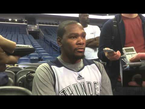 Durant: Shootaround in New Orleans