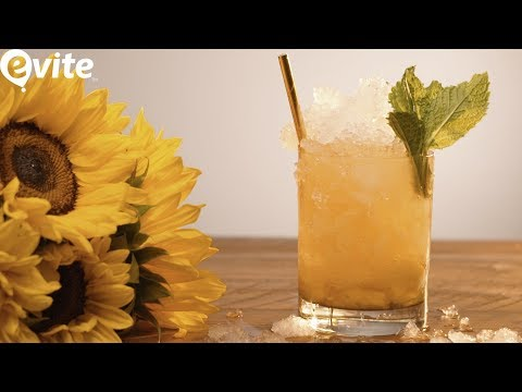 How To Make A Whiskey Smash For Happy Hour🍹 | Evite Recipes