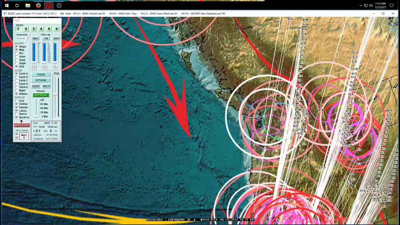 7 27 2017 west coast usa earthquake update california oregon washington be aware