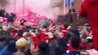 Liverpool team coach arrives champions league vs man city