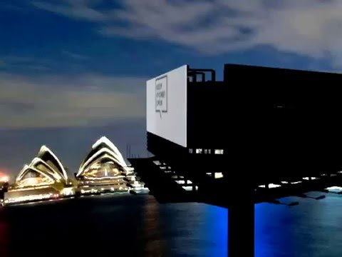 Sydney City (At night with Billboard)
