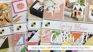 Small JoAnn Haul - NEW DCWV Paper Stacks with Flip Thru