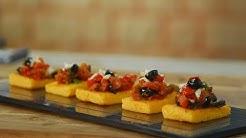 Polenta Bruschetta | Cooksmart | Sanjeev Kapoor Khazana