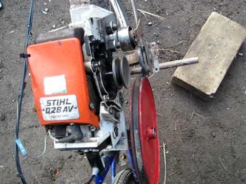 how to make a chainsaw powered bike
