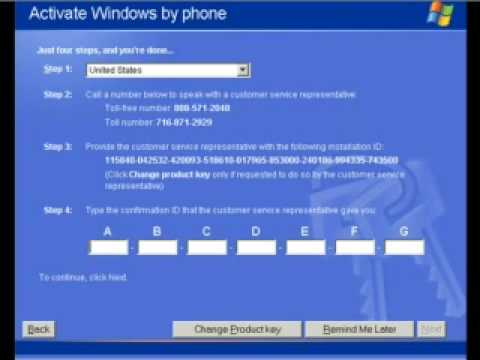 How To Activate Windows XP Installation If You Don't have a Serial ...