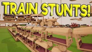 LONGEST TOY TRAIN STACKING STUNT & TRAIN YARD! - Tracks - The Train Set Game Gameplay - Toy Trains