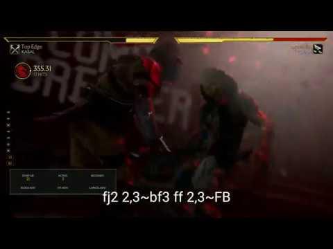 Mortal Kombat 11 Clean Cut Kabal Version 1.0 BnB Kombos