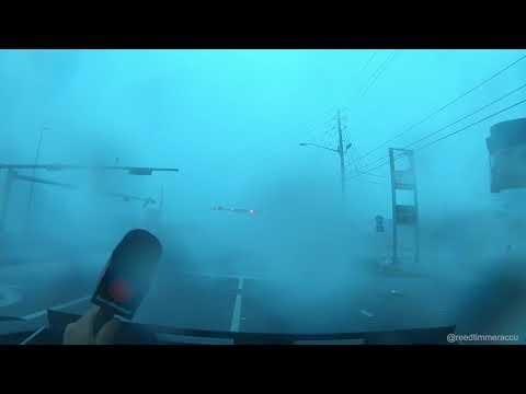 EYE WALL of powerful Hurricane Michael in eastern Panama City, FL