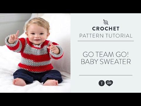 Left Hand: Go Team Go! Baby Sweater