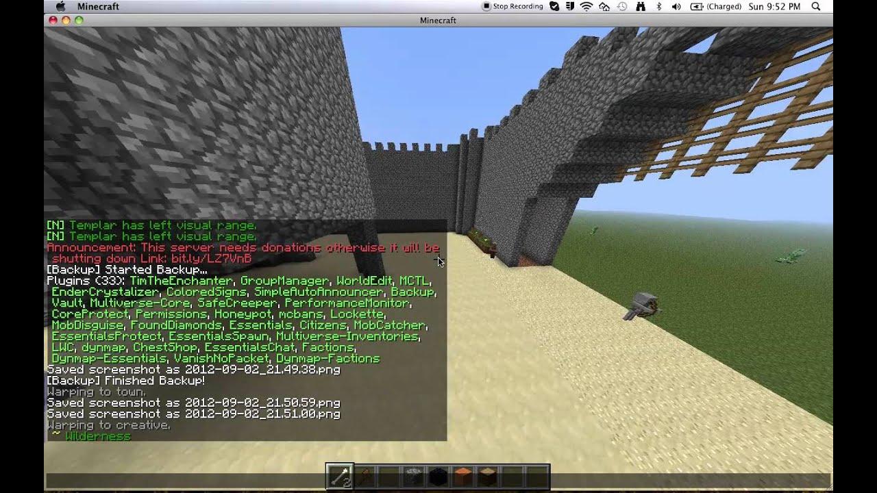 Awesome Minecraft Server CampCobble Bukkit Survival - Minecraft server range erstellen