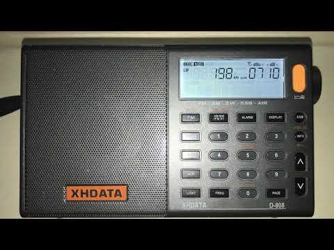BBC Radio 4 198 kHz kHz as heard in Zurich, Switzerland on XHDATA D-808