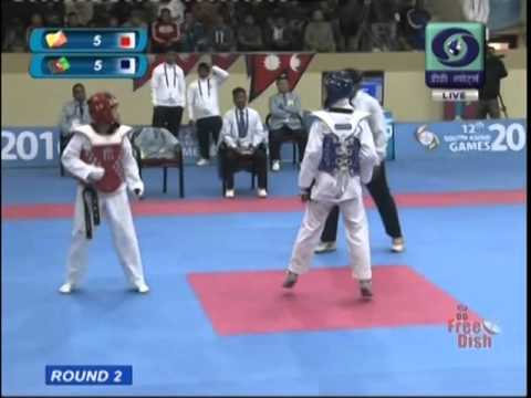 Afghan Taekwondo champions at 2016 south asian games