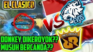 EVOS VS RRQ!! DONKEY DIKEROYOK?? RRQ BERCANDA?? M1 WORLD CHAMPIONSHIP Match 1 - Mobile legends