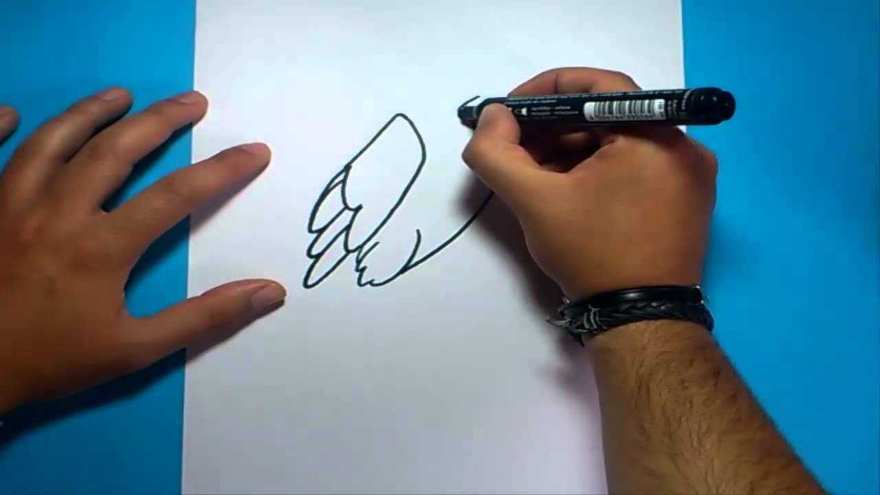 Como dibujar un aguila paso a paso 2  How to draw an eagle 2