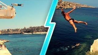Malta Cliff Jumping 2013