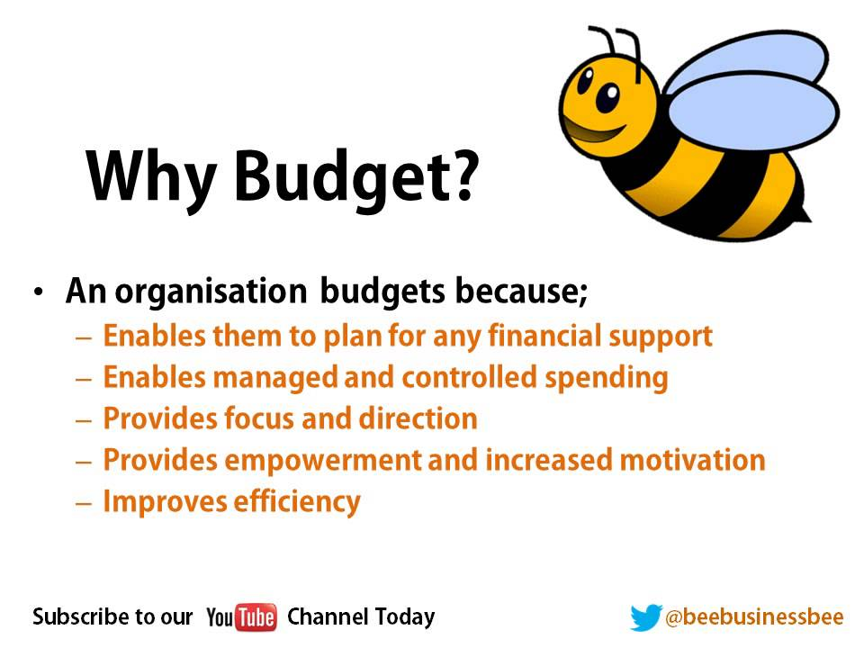 bee business bee budgeting tutorial part 1 youtube
