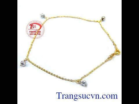 Lắc chân nữ tính thời trang đẹp , Lắc vàng , Lắc chân vàng, TSVN014451   gold   anklet