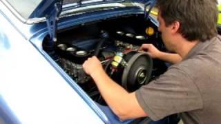Classic Porsche 911 Engine Fired Up