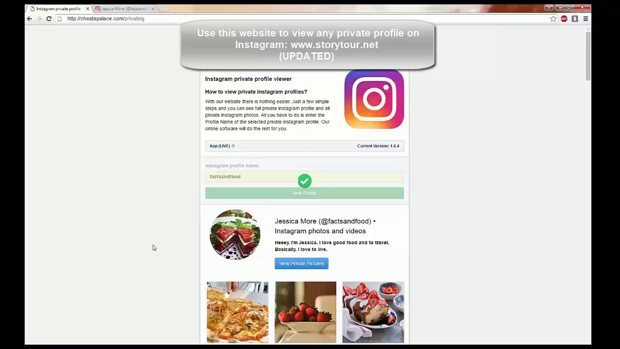 Access private Instagram 2019