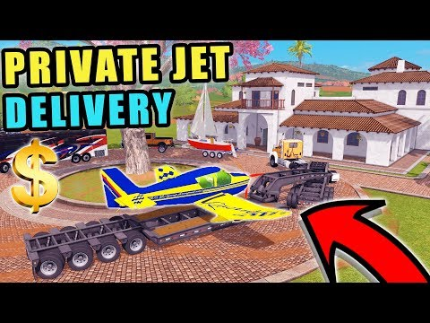 DELIVERING PRIVATE JET TO BILLIONAIRE W/ NEW EMPLOYEE | FARMING SIMULATOR 2017 thumbnail