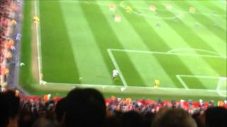 Manchester United vs Bayern Munich - Fans celebrate Vidic's goal !! AMAZING ATMOSPHERE