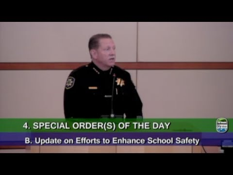 School Safety update from RCPD Chief Mulholland 3/12/2018