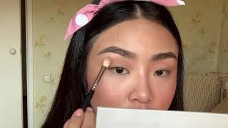 Растушеванная стрелка на азиатское веко Вечерний макияж азиатское веко Макияж на нависшее веко