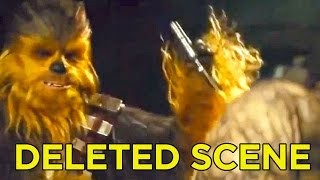 Star Wars The Force Awakens Deleted Scene - Chewy Rips Off Arm!