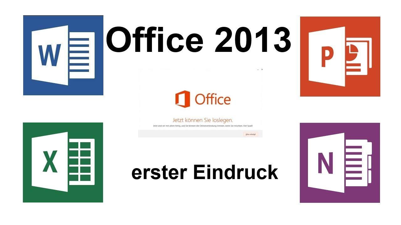 erster eindruck: microsoft office 2013 ( home & student ) - youtube