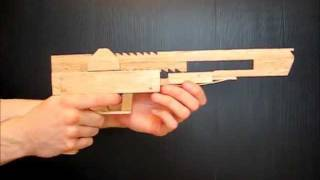 This rubber band gun was based on plans kindly provided by Ogg Craf...