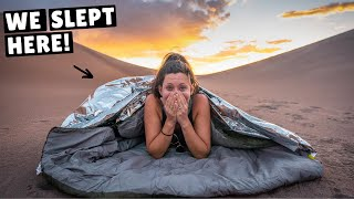 SURVIVING A NIGHT IN AMERICA'S LARGEST SAND DUNES (crazy sand storm)