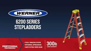 Werner Ladder - 6200 Fiberglass Step Ladders
