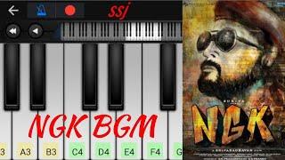 NGK BGM | Yuvanshankar Raja | Surya | Easy piano tutorial