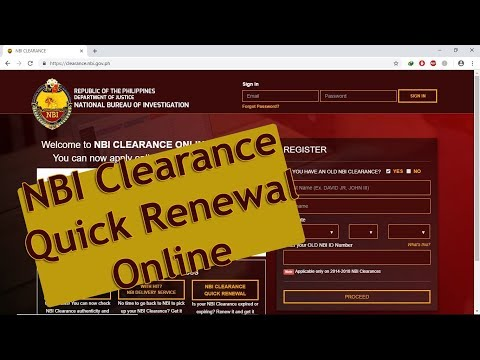 NBI Clearance Quick Renewal Online - Step By Step