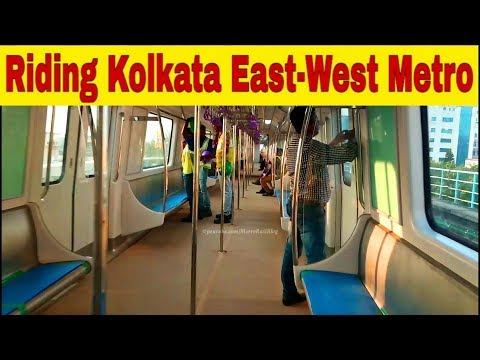 Riding Kolkata East-West Metro || On-Board Kolkata Metro Line 2 East-West Corridor