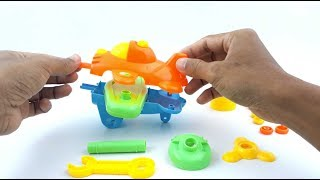Learn Colors With Biplane For Kids - Airplane Assembly Video for Kids - Education Videos For Kids