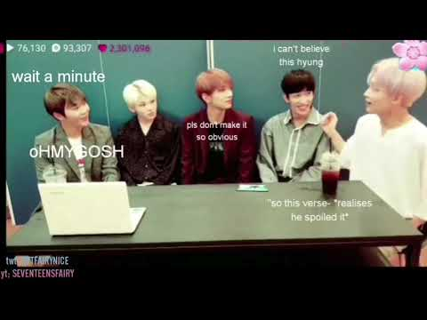 [ENG SUB] a series of SEVENTEEN spoiling unreleased songs during live broadcasts