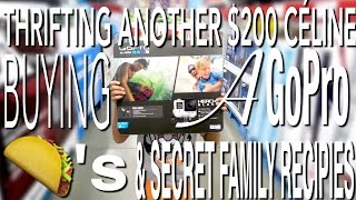 SHOP & VLOG: THRIFTING A $200 CELINE BAG, BUYING A GOPRO, TACO TUESDAY, AND SECRET FAMILY RECIPIES!(, 2016-07-13T16:43:48.000Z)