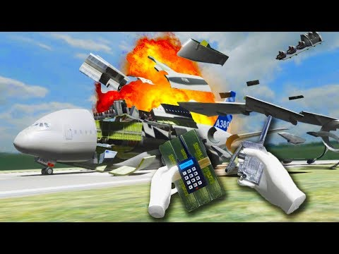 Demolition Expert Destroys Huge Airplanes With C4 in Disassembly VR