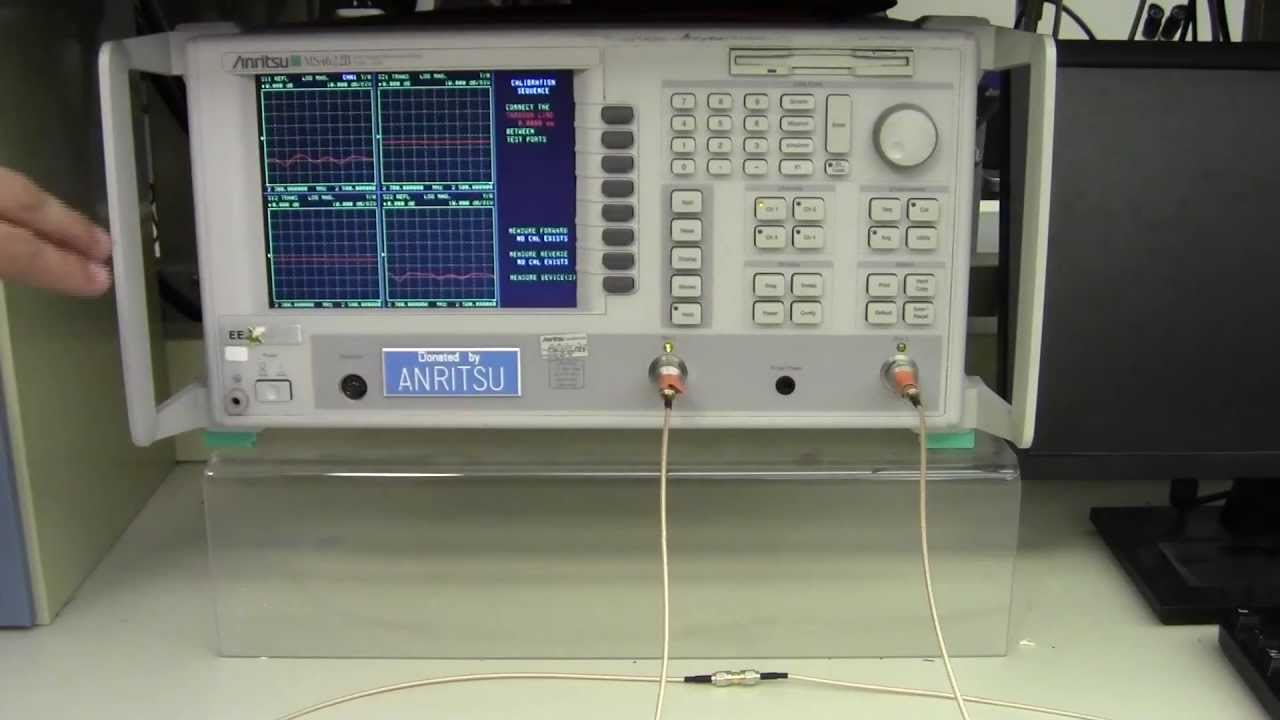 Network Analyzer And Harmonic : How to calibrate an anritsu ms b vector network