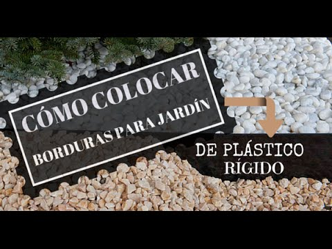 C mo colocar borduras para jard n de pl stico r gido youtube for Bordillos de plastico para jardin