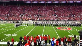 Ohio State Marching Band Pregame Ramp and Script Ohio 9 6 2014 OSU vs VA Tech
