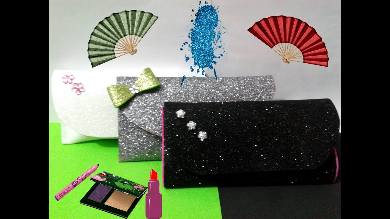 1b860cbf26d57 How to make bag foamy Glitter - طريقة عمل شنطة سوارية من فوم الجليتر ...